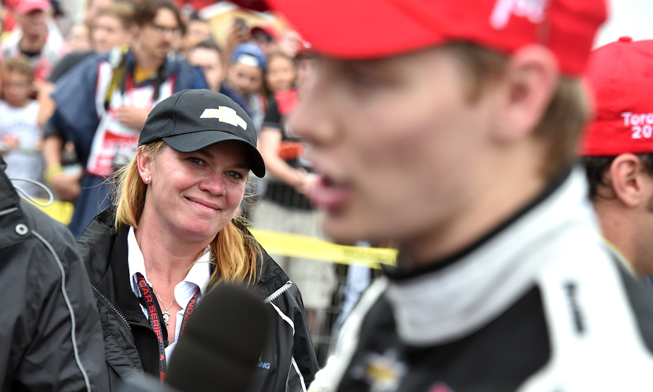 Sarah Fisher and Josef Newgarden