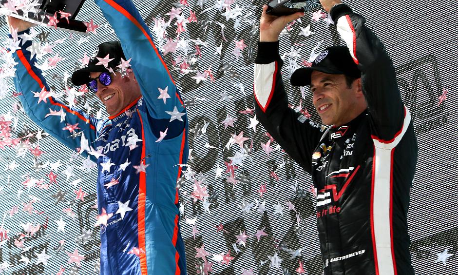 Scott Dixon and Helio Castroneves