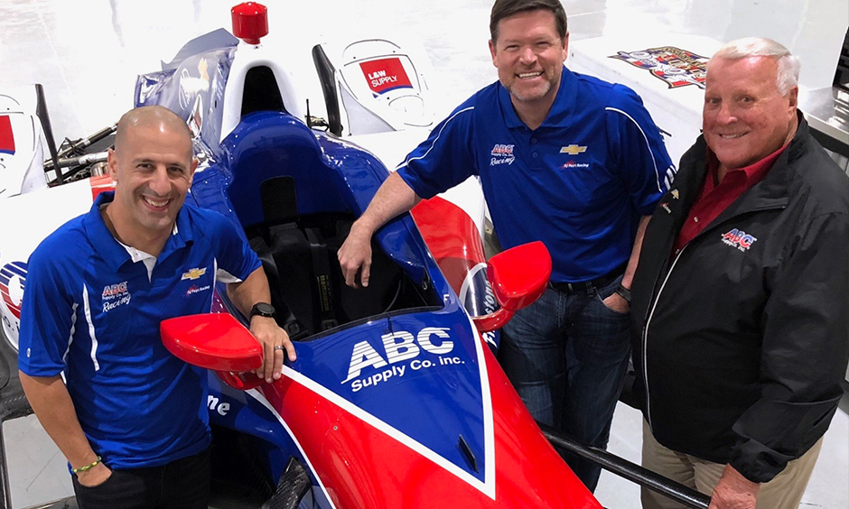 Tony Kanaan, Eric Cowdin, and A.J. Foyt