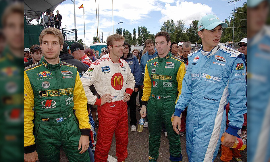 Will Power, Sebastien Bourdais, Simon Pagenaud, and Graham Rahal