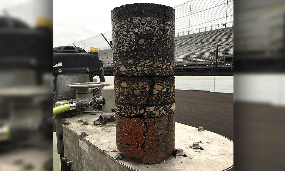 Indianapolis Motor Speedway core sample