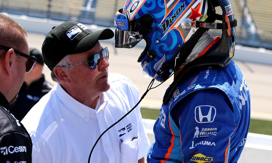 Brian Barnhart and Scott Dixon