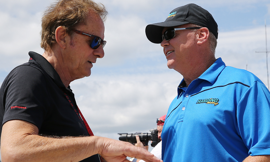 Al Unser Jr. and Arie Luyendyk